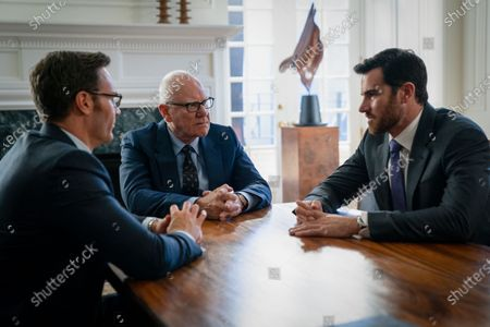 Josh Lawson as James Murdoch, Malcolm McDowell as Rupert Murdoch and Ben Lawson as Lachlan Murdoch