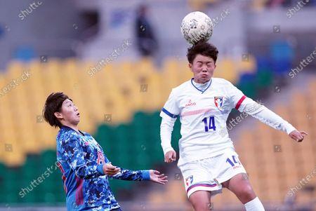 Yu-Chieh Lan(TWN) heads the ball