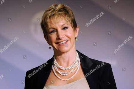 SAG-AFTRA President Gabrielle Carteris poses at the 26th annual Screen Actors Guild Awards nominations announcement at the Pacific Design Center, in West Hollywood, Calif. The show will be held on Sunday, Jan. 19, 2020, in Los Angeles