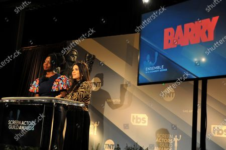 Danai Gurira (L) and US actress America Ferrera attend the nomination announcements for the 26th annual Screen Actors Guild Awards as TV show 'Barry' is nominated at the Pacific Design Center in West Hollywood, California, USA, 11 December 2019. The 26th Annual SAG Awards ceremony will be held on 19 January 2020.