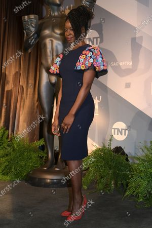 Danai Gurira attends the nomination announcements for the 26th annual Screen Actors Guild Awards at the Pacific Design Center in West Hollywood, California, USA, 11 December 2019. The 26th Annual SAG Awards ceremony will be held on 19 January 2020.