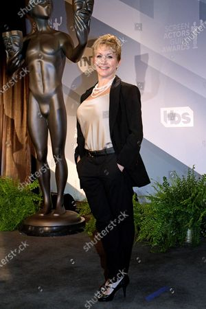 Stock Photo of SAG President Gabrielle Carteris attends the nomination announcements for the 26th annual Screen Actors Guild Awards at the Pacific Design Center in West Hollywood, California, USA, 11 December 2019. The 26th Annual SAG Awards ceremony will be held on 19 January 2020.
