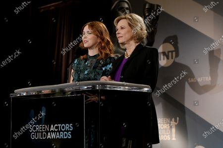 SAG Awards Committee Member Elizabeth McLaughlin (L) and Committee Chair JoBeth Williams attend the nomination announcements for the 26th annual Screen Actors Guild Awards at the Pacific Design Center in West Hollywood, California, USA, 11 December 2019. The 26th Annual SAG Awards ceremony will be held on 19 January 2020.