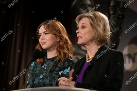 Stock Photo of SAG Awards Committee Member Elizabeth McLaughlin (L) and Committee Chair JoBeth Williams attend the nomination announcements for the 26th annual Screen Actors Guild Awards at the Pacific Design Center in West Hollywood, California, USA, 11 December 2019. The 26th Annual SAG Awards ceremony will be held on 19 January 2020.