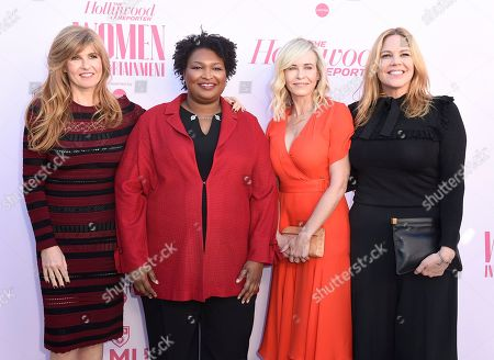 Connie Britton, Stacey Abrams, Chelsea Handler, Mary McCormack. Connie Britton, from left, Stacey Abrams, Chelsea Handler and Mary McCormack arrive at The Hollywood Reporter's Women in Entertainment Breakfast Gala, in Los Angeles