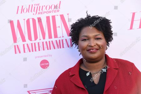 Stock Image of Stacey Abrams arrives at The Hollywood Reporter's Women in Entertainment Breakfast Gala, in Los Angeles