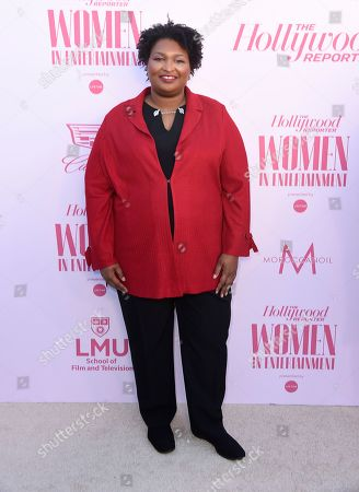 Stock Photo of Stacey Abrams arrives at The Hollywood Reporter's Women in Entertainment Breakfast Gala, in Los Angeles
