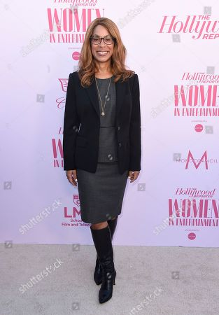 Channing Dungey arrives at The Hollywood Reporter's Women in Entertainment Breakfast Gala, in Los Angeles