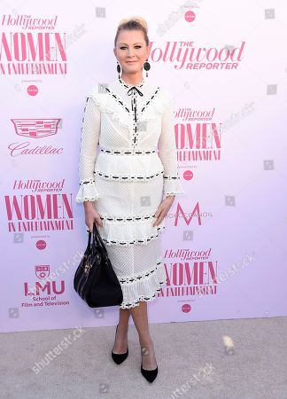 Sandra Lee arrives at The Hollywood Reporter's Women in Entertainment Breakfast Gala, in Los Angeles