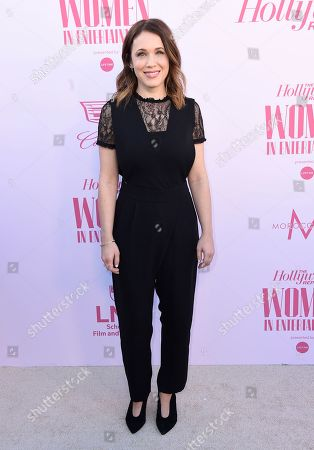 Marla Sokoloff arrives at The Hollywood Reporter's Women in Entertainment Breakfast Gala, in Los Angeles