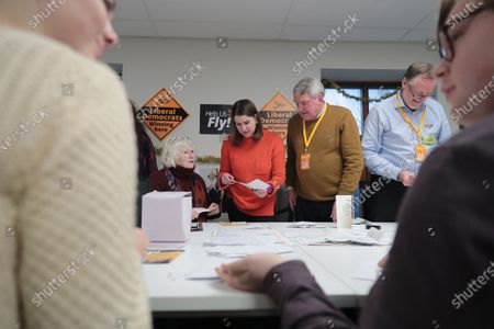 Liberal Democrats party leader Jo Swinson during a visit to a Volunteer Hub while campaigning on the general elections, in London, Britain, 11 December 2019. Britons go to the polls on 12 December 2019 in a general election.