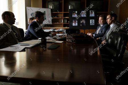 Jon Hamm as Tom Shaw, Paul Walter Hauser as Richard Jewell and Sam Rockwell as Watson Bryant