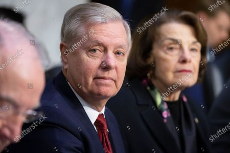 Republican Senator from South Carolina and Chairman of the Senate Judiciary Committee Lindsey Graham (L) and Democratic Senator from California Dianne Feinstein (R) attend the Senate Judiciary Committee hearing examining the Inspector General's report on alleged abuses of the Foreign Intelligence Surveillance Act (FISA), on Capitol Hill in Washington, DC, USA, 11 December 2019. The report issued by the Justice Department's watchdog states that the launch of the original FBI investigation into the 2016 Trump presidential campaign had a solid legal basis, contradicting Trump's claim his campaign was victim of a 'witch hunt'.