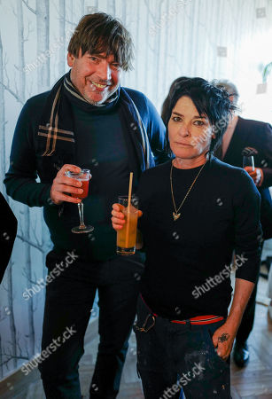 Sue Webster and Alex James
