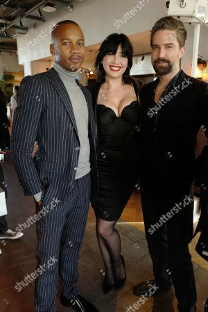 Stock Photo of Daisy Lowe, Jack Guinness and guest