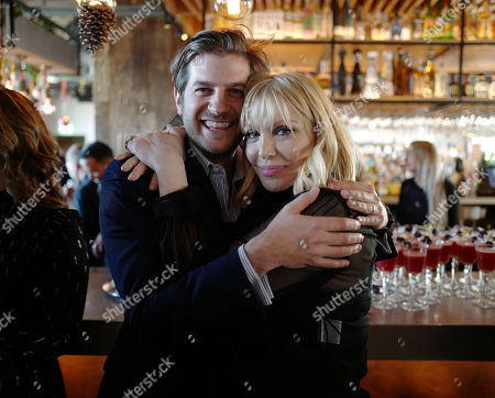 Stock Image of Jack Freud and Courtney Love