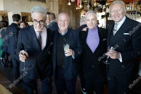 Stock Image of Peter York, Harvey Goldsmith, guest and Harold Tillman