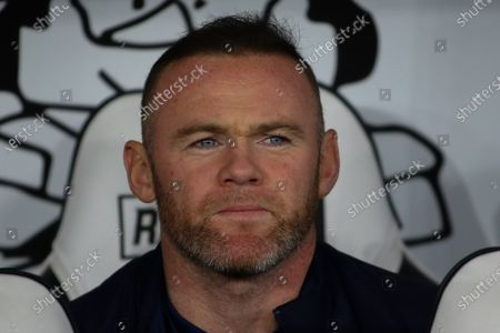 Derby County player/coach Wayne Rooney (32) during the EFL Sky Bet Championship match between Derby County and Sheffield Wednesday at the Pride Park, Derby