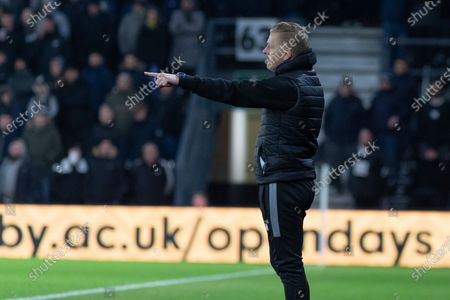 Gary Monk during the EFL Sky Bet Championship match between Derby County and Sheffield Wednesday at the Pride Park, Derby