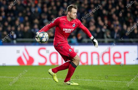 Goalkeeper Simon Mignolet of Club Brugge in action during the UEFA Champions League group A match between Club Brugge and Real Madrid in Bruges, Belgium, 11 December 2019.