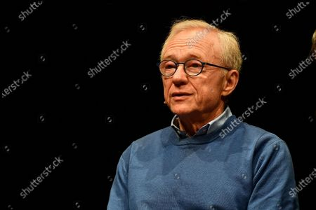 Israeli author David Grossman attends the presentation of his new book 'Life plays with me' at the Gustavo Modena theater in Genoa, Italy, 11 December 2019.