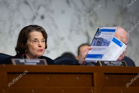 United States Senator Dianne Feinstein (Democrat of California) speaks as Michael Horowitz, Inspector General at the U.S. Department Of Justice, testifies on his report regarding alleged abuses of the Foreign Intelligence Surveillance Act during a United States Senate Committee on the Judiciary hearing
