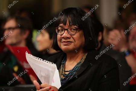 Shadow Home Secretary Diane Abbott at a rally in Hoxton, East London. Voters will head to polling stations tomorrow for the 2019 General Election.