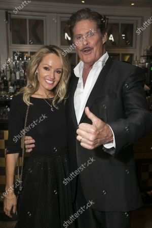 Stock Photo of Hayley Roberts Hasselhoff and David Hasselhoff (Franklin Hart Jr)
