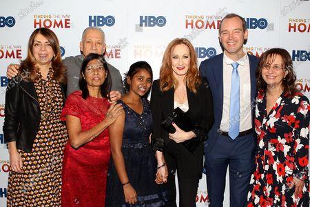 Nancy Abraham, Jon Alpert, Maria Fernandez, Livya Dsouza, J.K. Rowling, Matthew o'Neill and Lisa Heller