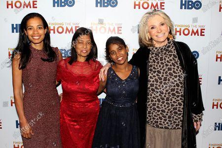 Jacqueline Glover, Maria Fernandez, Livya Dsouza and Sheila Nevins