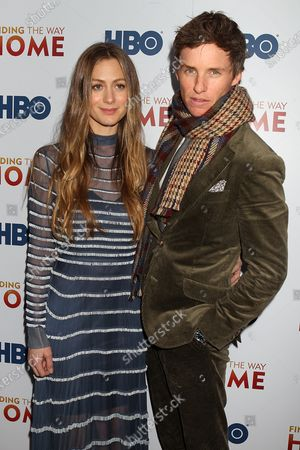 Hannah Bagshawe and Eddie Redmayne