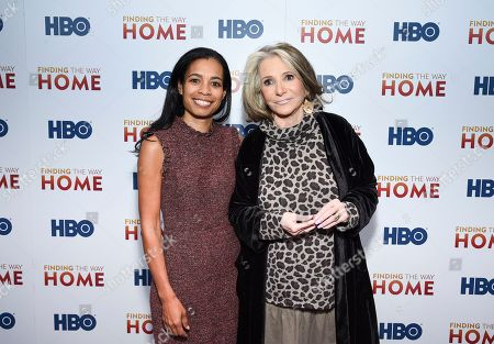 """Jacqueline Glover, Sheila Nevins. Executive producers Jacqueline Glover, left, and Sheila Nevins attend the HBO Documentary Films premiere of """"Finding the Way Home"""" at 30 Hudson Yards, in New York"""