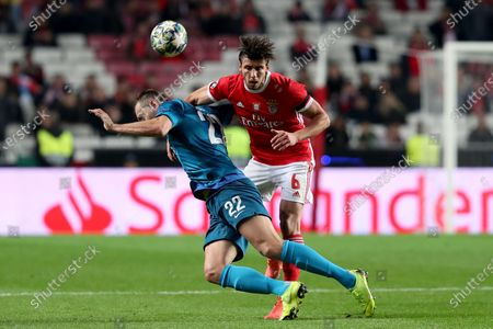 Ruben Dias of Benfica and Artem Dzyuba of Zenit