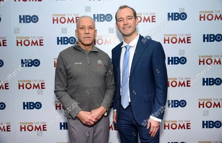 """Stock Picture of Jon Alpert, Matthew O'Neill. Filmmakers Jon Alpert, left, and Matthew O'Neill attend the HBO Documentary Films premiere of """"Finding the Way Home"""" at 30 Hudson Yards, in New York"""