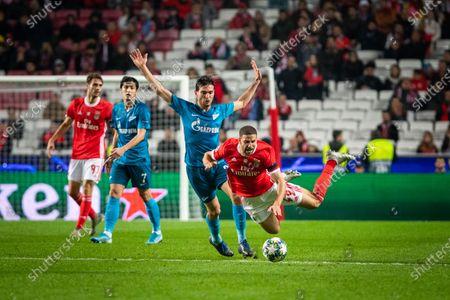 Adel Taarabt of Benfica and Magomed Ozdoev of Zenit