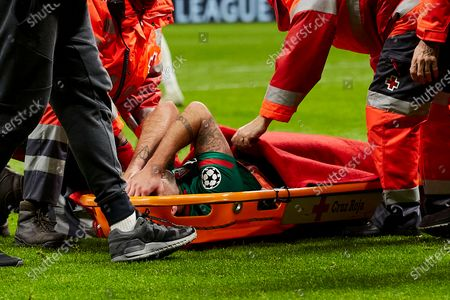 Vedran Corluka of FC Lokomotiv Moscow injured