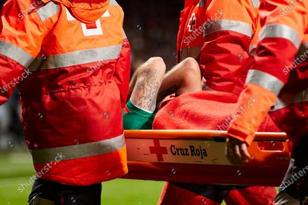 Stock Picture of Vedran Corluka of FC Lokomotiv Moscow injured