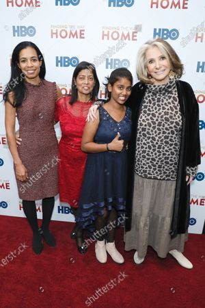 Stock Image of Jacqueline Glover, Maria Fernandes, Livya Dsouza and Sheila Nevins