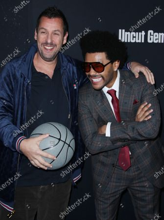 Adam Sandler and The Weeknd