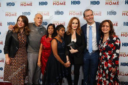Nancy Abraham, John Alpert, Maria Fernandez, Livya Dsouza, J.K. Rowling, Matthew O'Neill and Lisa Heller