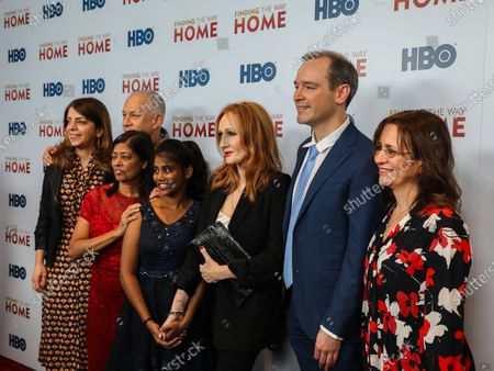 Stock Image of Nancy Abraham, John Alpert, Maria Fernandez, Livya Dsouza, J.K. Rowling, Matthew O'Neill and Lisa Heller
