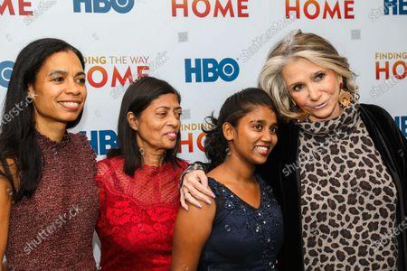 Stock Photo of Jacqueline Glover, Maria Fernandez, Livya Dsouza, and Sheila Nevins