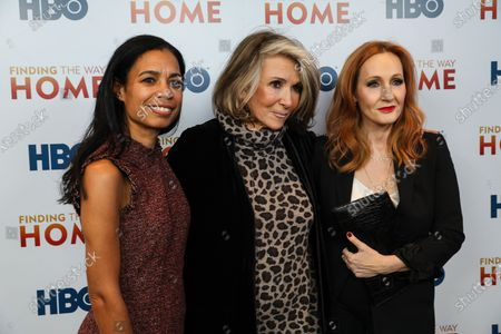 Stock Picture of Jacqueline Glover, Sheila Nevins, and J.K. Rowling