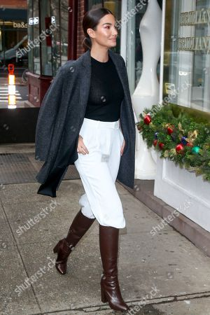 Editorial image of Lily Aldrige out and about, New York, USA - 11 Dec 2019