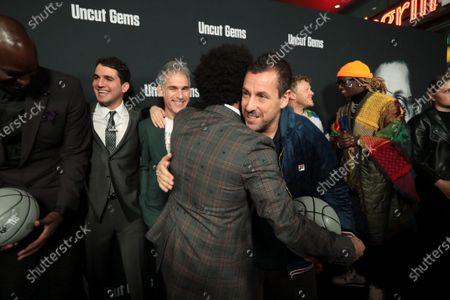 Kevin Garnett, Ben Safdie, Director/Writer, Ronald Bronstein, Writer, The Weeknd, Adam Sandler, Sebastian Bear-McClard, Producer, Young Thug