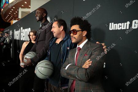 Julia Fox, Kevin Garnett, The Weeknd, Adam Sandler