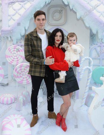 Stock Image of Shenae Grimes, husband Josh Beech and daughter Bowie Scarlett Beech