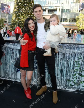 Stock Picture of Shenae Grimes, husband Josh Beech and daughter Bowie Scarlett Beech