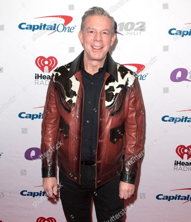 Elvis Duran poses for photographers backstage during Q102's iHeartRadio Jingle Ball 2019 at the Wells Fargo Center, in Philadelphia