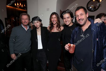Stock Photo of David Spade, King Princess, Jackie Sandler, Cole Sprouse, Adam Sandler